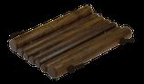 Seifenunterlage mit Lederband 12 x 8 cm