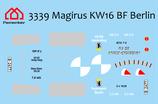 Decal Magirus KW16 BF Berlin
