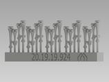 Martin Horn 2-fach 1 d`/ 1 a`, MAGIRUS links/rechts, mit Schneekappen, je 5 Stück