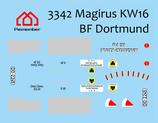 Decal Magirus KW16 BF Dortmund