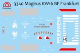 Decal Magirus KW16 BF Frankfurt