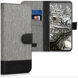 Wallet Case Xiaomi Mi Mix 3 Canvas Grau-Schwarz