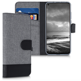 Wallet Case Huawei Honor View 20 Canvas Grau-Schwarz