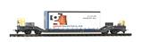 BEMO 2289 161 RhB Sbk-v 7701 mit Planenbehälter Gasser