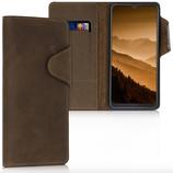 Wallet Case Samsung Galaxy A50 Echtleder Braun