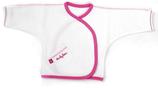 Ducky Beau overslag shirtje wit/roze