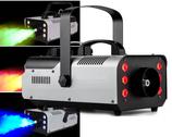 MACCHINA FUMO 900W 6LED RGB EFFETTO NEBBIA CON TELECOMANDO