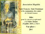 Billet unitaire Concert du 25 juillet à La Sainte Baume
