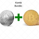 Kombi Bundle: Bitcoin und Ethereum Münze