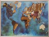 Cadre Alu et vitre de protection pour puzzle Planisphère SIDHERIA 100 pièces