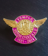 Temple Motorcycle Club Centenary Badge