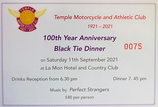 100TH Anniversary Ticket
