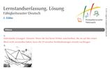 Lernstandserfassung 2. Zyklus Deutsch mit Lösungen