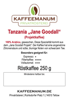 """Tanzania """"Jane Goodall Projekt"""" Kaffee"""