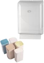 Distributeur + Essuie-mains feuille à feuille pliage en Z-C-V