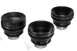 3 Lens Set - Zeiss Compact Prime CP.2 T1.5 Super Speed - $225 per Day / $675 per Week / $2,250 per Month