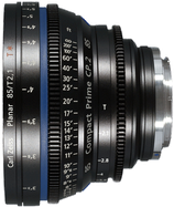 Zeiss Compact Prime CP.2 85mm t2.1 EF/PL Lens $100 day / $300 week  / $1000 per month