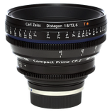 Zeiss Compact Prime CP.2 18mm f3.6 EF/PL Lens $100 day / $300 week  / $1000 per month