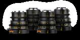 Veydra Micro 4/3 Mini Prime 4 Lens Set $135 day / $405 week  / $1350 per month
