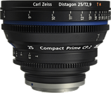 Zeiss Compact Prime CP.2 25mm f2.9 EF/PL Lens $75 day / $225 week  / $750 per month