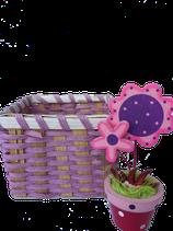 Riet mandje lila