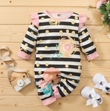 Baby Overall Stripes & Dots