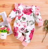 """Baby Overall """"Florals pink"""""""