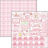 Paper Sheet Cuore Italiano Rosa