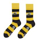 Bienen Socken Schwarz Gelb gestreift