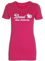 Braut des Jahres T-Shirt pink