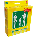 Travel John! 5 pack – (5 units)