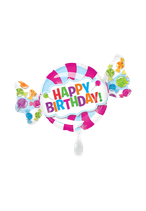 1 Folienballon - Ø 101cm - Geburtstagsbonbon