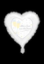 1 Folienballon - Ø 45cm - Alles Gute zur Hochzeit