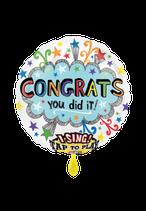 1 Musikballon - Ø 71cm – Congrats you did it