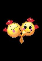 1 Folienballon - Ø 91cm - Smiley Liebespaar