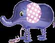 1 Laufender Ballon - Ø 60cm - Elefant