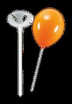 Luftballonstäbe mit Halterung - Weiss