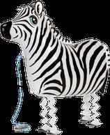 1 Laufender Ballon - Ø 62,5 cm - Zebra