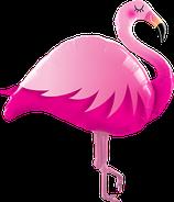 1 Folienballon - Ø 117cm - Flamingo pink