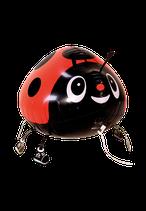 1 Laufender Ballon - Ø 45cm - Marienkäfer Rot