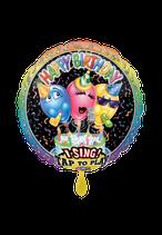 1 Musikballon - Ø 71cm – Happy Birthday Party