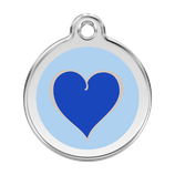 Hundemarke Herz Blau Himmelblau