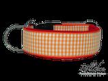 Pöllchen Komforthalsband Vichy Karo Orange