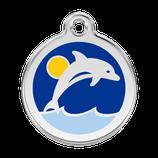 Hundemarke Delphin Blau