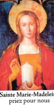 Bougie de Neuvaine Sainte Marie Madeleine avec effigie et prière