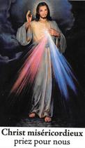 Bougie de Neuvaine Christ Miséricordieux avec effigie