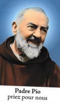 Bougie de Neuvaine Padré Pio avec effigie et prière