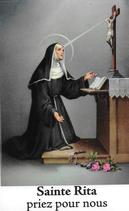 Bougie de Neuvaine Sainte Rita avec effigie et prière