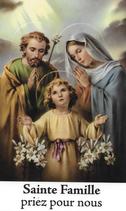 Bougie de Neuvaine Sainte Famille avec effigie et prière