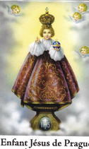 Bougie de Neuvaine à l'Enfant jésus avec effigie